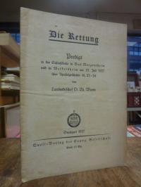 Wurm, Die Rettung – Predigt in der Schloßkirche in Bad Mergentheim und in Weiker