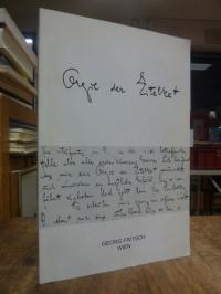 Antiquariatskatalog / Georg Fritsch, Katalog 19: Orgie der Eitelkeit – Drei Brie