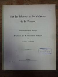 Bertrand, Sur les  idiomes et les dialectes de la France,