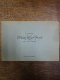Goethe, Handschriftbild eines bisher ungedruckten Stammbuch-Blattes von Goethe,
