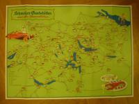 Schweiz, Schweizer Gaststätten und ihre Spezialitäten, farbiges Plakat,