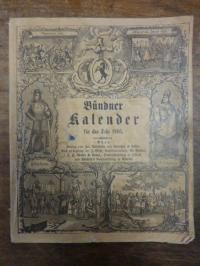 Europa / Schweiz, Bündner Kalender für das Jahr 1903,