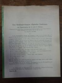 Pech, Über Modulargleichungen elliptischer Funktionen (Zur Transformation der 23