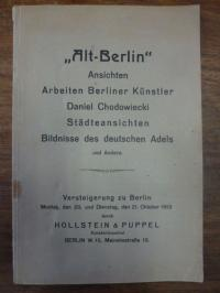 Berlin / Auktionskatalog, Sammlung seltener Ansichten von Berlin und Umgebung –