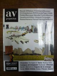 Fernandez-Galiano, AV Proyectos 24: viviendas: Torre, Campus aerospacial, Oficin
