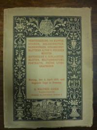 Gasch, Katalog schöner und seltener Kupferstiche, Holzschnitte, Radierungen und