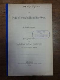 Lindauer, De Polybii vocabulis militaribus,