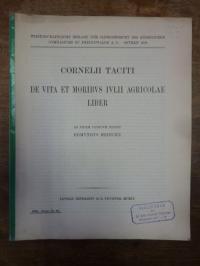 Tacitus / Hedicke, Cornelii Taciti De Vita Et Moribus Ivulii Agicolae Liber,