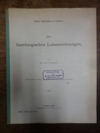 Meyer, Die hamburgischen Lotsenordnungen,