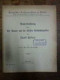 Krauth, Untersuchung über den Namen und die ältesten Geschichtsquellen der Stadt