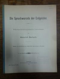 Bertsch, Die Sprachwurzeln der Erdgeister – Religionsgeschichtlich-etymologische