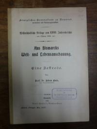 Biese, Aus Bismarcks Welt- und Lebensanschauung – Eine Festrede,