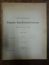 Kaiser-Friedrich Gymnasium Frankfurt (heute: Heinrich-von-Gagern-Gymnasium) / Ha