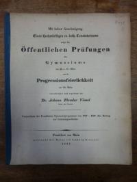 Vömel, Verzeichnis der Frankfurter Gymnasialprogramme von 1737 – 1837 – Ein Beit