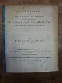 Matthiae, Kurze Uebersicht des römischen und griechischen Maaß–, Gewicht- und Mü