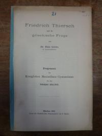 Thiersch, Friedrich Thiersch und die griechische Frage,