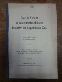 Meidinger, Über die Variatio bei den römischen Dichtern, besonders der Augusteis