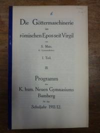 Mair, Die Göttermaschinerie im römischen Epos seit Virgil  –