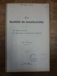 Dietrich, Zur Geschichte des Investiturstreites – 1. Das Wormser Concordat / 2.