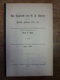 Kohl, Das Tagebuch von G. H. Schmerz über den Baseler Frieden 1794-95, 1. Teil,