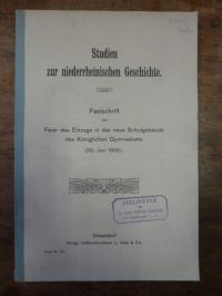 Asbach, Studien zur niederrheinischen Geschichte – Festschrift zur Feier des Ein