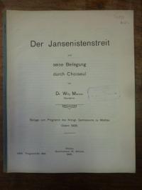 Marcus, Der Jansenistenstreit und seine Beilegung durch Choiseul,