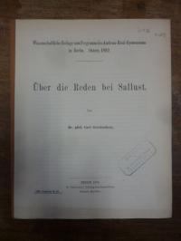 Sallust / Gerstenberg, Über die Reden bei Sallust