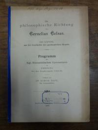 Sepp, Die philosophische Richtung des Cornelius Celsus – Ein Kapitel aus der Ges