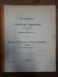Strauss, Die Behandlung der Confessio Augustana in der Prima,