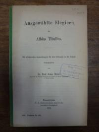 Meier, Ausgewählte Elegieen des Albius Tibullus – Mit erklärenden Anmerkungen fü