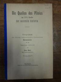 Abert, Die Quellen des Plinius im XVI. Buche der naturalis historia,