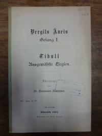 Klammer, Vergils Äneis Gesang I. / Tibull: Ausgewählte Elegien,