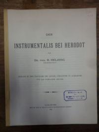 Herodot / Helbing, Der Instrumentalis bei Herodot,