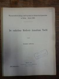 Herodot / Helbing, De codicibus Mediceis Annalium Taciti,