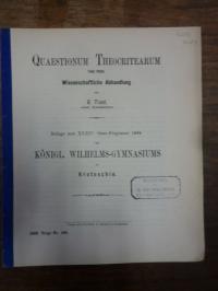 Theokritos / Traut, Quaestionum Theocritearum – Wissenschaftliche Abhandlung,