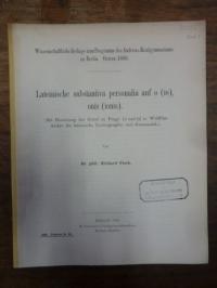 Geyer, Lateinische substantiva personalia auf o (io), onis (ionis) – (Mit Benutz