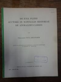 Plinius (der Ältere) / Ahlgrimm, De Iuba Plinii auctore in naturalis historiae d