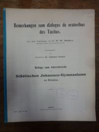 Tacitus / Freund, Bemerkungen zum dialogus de oratoribus des Tacitus,