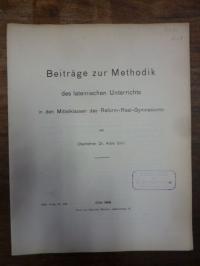 Geyer, Beiträge zur Methodik des lateinischen Unterrichts in den Mittelklassen d