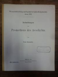 Aischylos / Scotland, Beobachtungen zum Prometheus des Aeschylus
