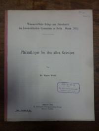 Wolff, Philanthropie bei den alten Griechen,