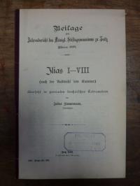 Homer / Zimmermann, Ilias I – VIII (nach der Auswahl von Kammer),