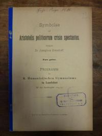 Aristoteles / Amsdorf, Symbolae ad Aristotelis politicorum crisin spectantes,