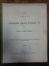 Homer / Zimmermann, Über 'e, hos psato, hos eipon' (auf Vorderdeckel altgriechis