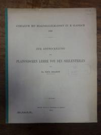 Platon / Meyer, Zur Entwickelung der Platonischen Lehre von den Seelenteilen,