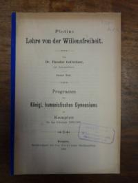 Plotin / Gollwitzer, Plotins Lehre von der Willensfreiheit,