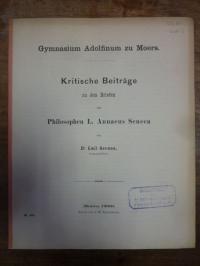 Seneca / Heidhues, Kritische Beiträge zu den Briefen des Philosophen L. Annaeus