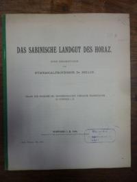 Horaz /Sellin, Das sabinische Landgut des Horaz – Eine Reisestudie,