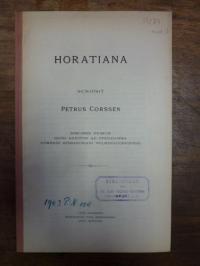Horaz /Corssen, Horatiana,