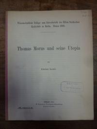 Morus, Thomas Morus und seine Utopia,